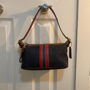 Vintage Denim Coach Shoulder Bag